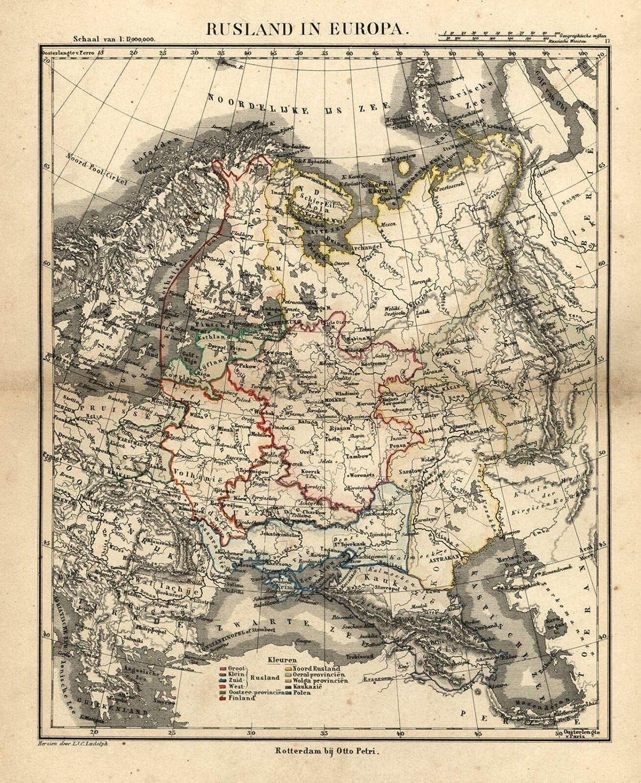 Amazon.com: Russia in Europe c.1850 Petri Baedeker scarce ...