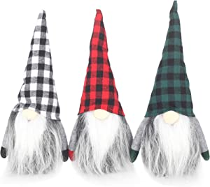 Cotill 3pcs Christmas Gnomes 10.5 Inch Handmade Swedish Tomte Scandinavian Christmas Decorations Ornaments Thanks Giving Day Gifts Swedish Gnomes tomte Holiday Home Decor
