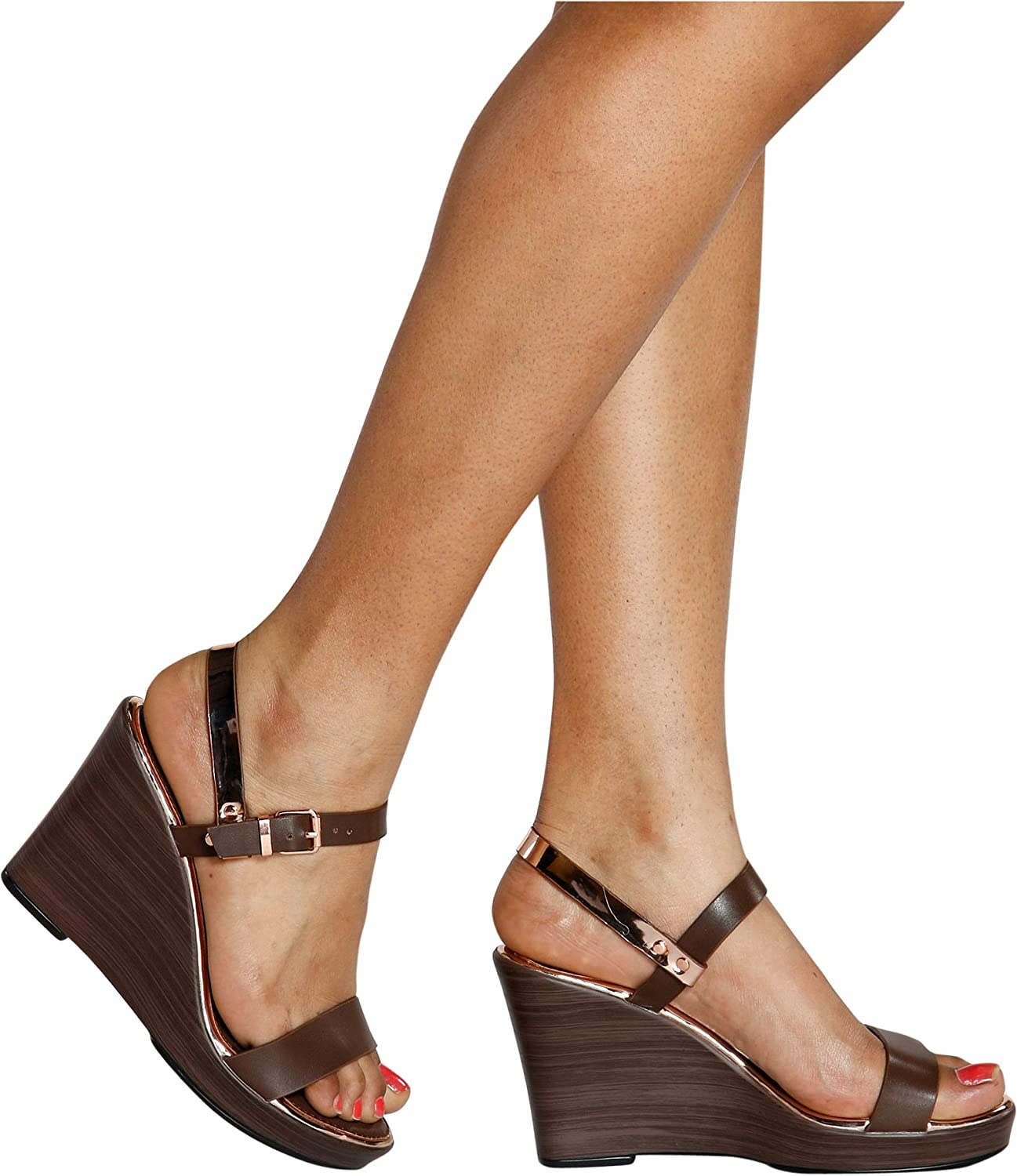 Extreme Womens NIA Light Weight Wedge 6 Brown