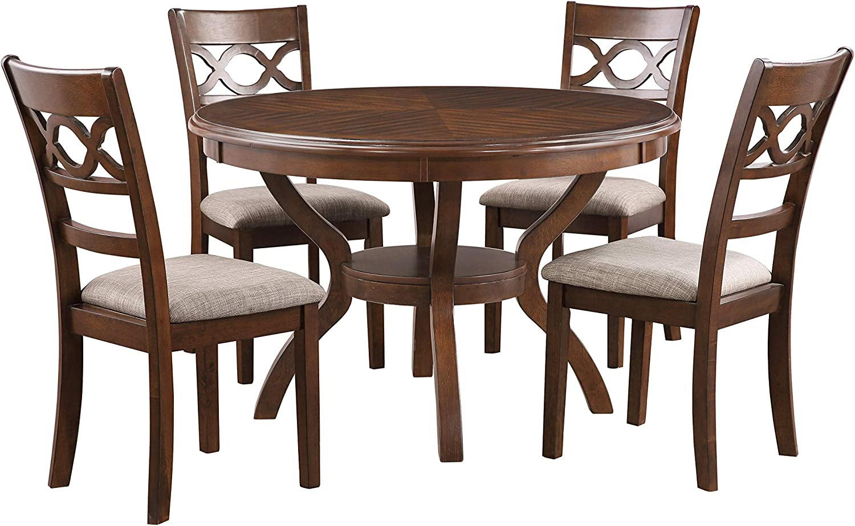 New Classic Furniture Cori Dining Set, Cherry