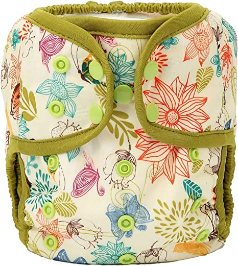 Hot Air Balloon One Size Cloth Diaper Cover Snap With Double Gusset