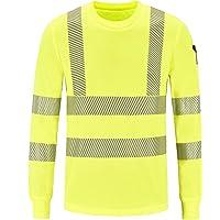 Camiseta Manga Larga de Trabajo, Alta Visibilidad y Cintas Reflectantes Camisetas y Polos de Alta Visibilidad Amarillo…