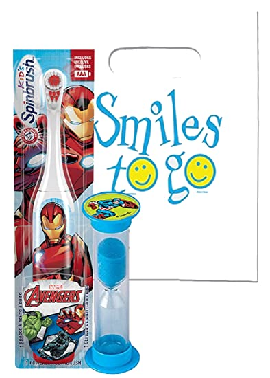 Marvel Avengers 2pc Bright Smile Oral Hygiene Bundle! Turbo Powered Spin Toothbrush & Brushing Timer