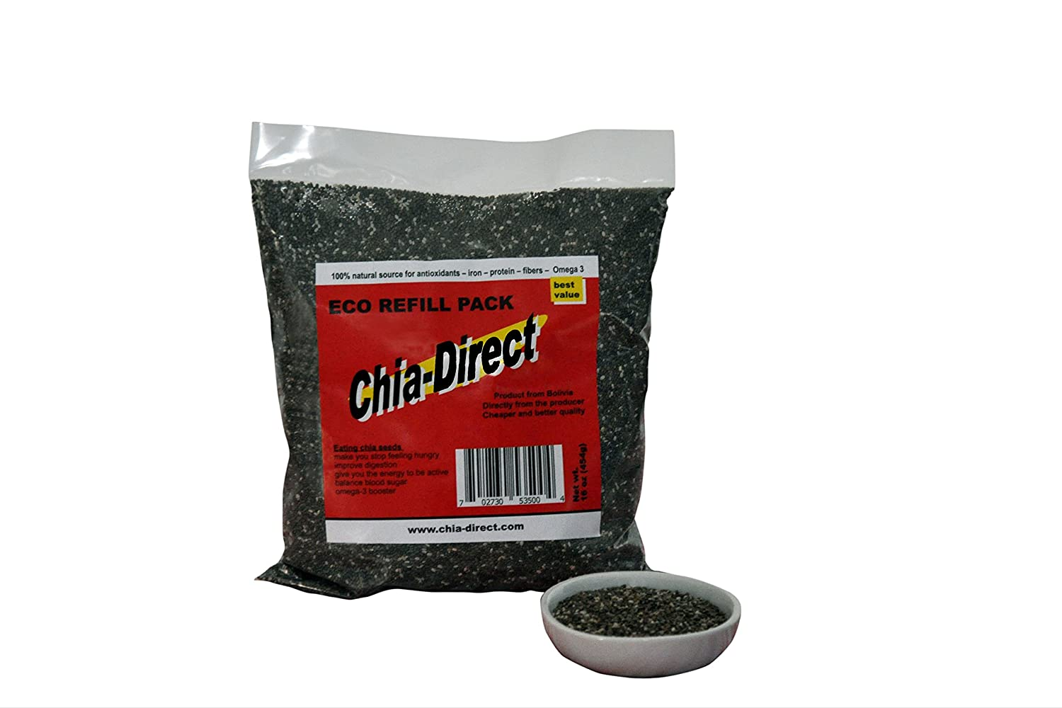 Amazon.com : semillas de chia negra 100% libre de pesticidas 16oz : Grocery & Gourmet Food
