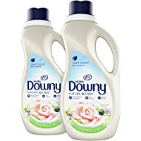 Downy Nature Blends Liquid Fabric Conditioner & Softener, Rosewater & Aloe, 2 Count, 44 ounces each
