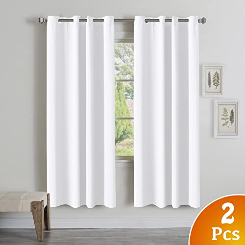 curtains for living room windows short turquoize thermal insulated room darkening grommet window curtain living room pure white 52 curtains for room amazoncom