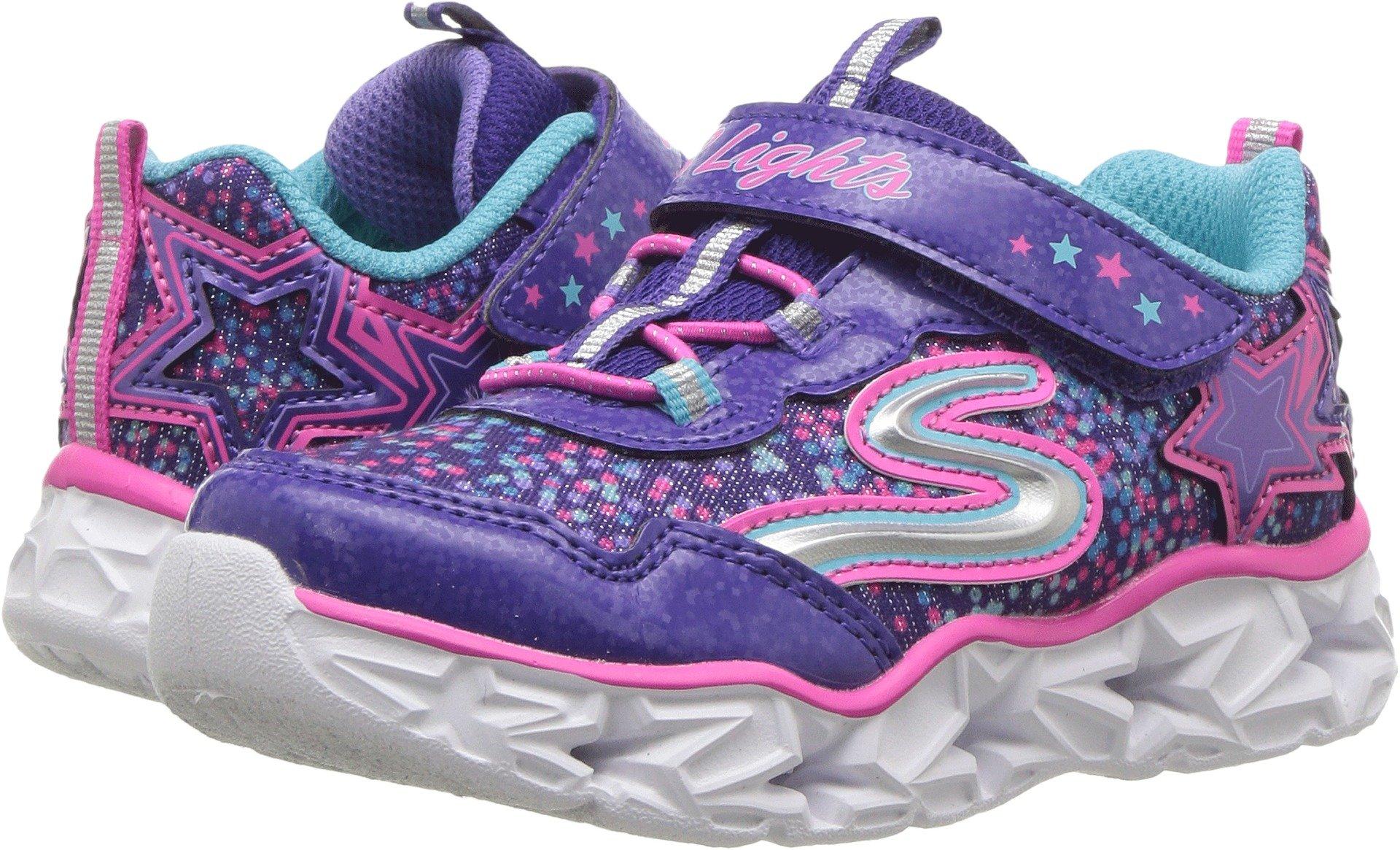 Skechers Kids' Galaxy Lights Sneaker,Purple/Multi,10 Medium US Toddler