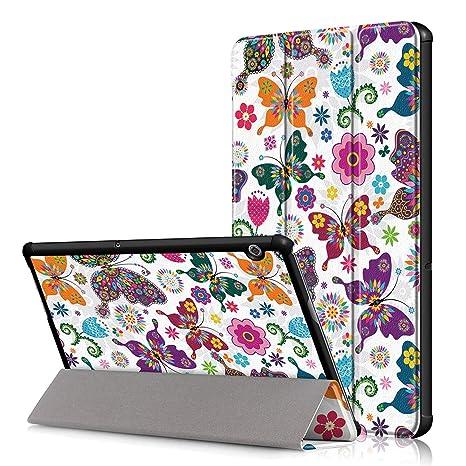 più foto cc44e 34fbd VOVIPO Huawei Mediapad T5 10 Custodia Cover Case, Slim Smart Protettiva  Custodia Cover in Pelle PU per Huawei Mediapad T5 10.1 Pollici 2018 Tablet