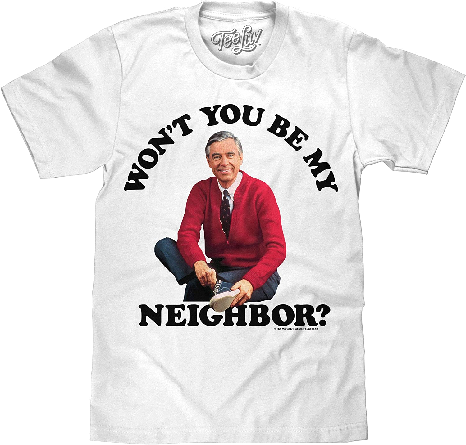 Amazon Com Tee Luv Mr Rogers T Shirt Won T You Be My Neighbor Mister Rogers Shirt Clothing