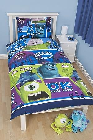 Funda Nordica Monster.Disney Monsters Inc University Single Rotary Duvet Set Multi Colour