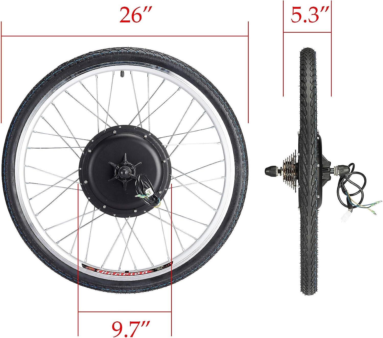 Sfeomi Kit de Conversión de Bicicleta Eléctrica 36V 500W Kit de ...