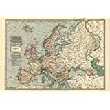 """MP53 Vintage 1897 Historical Antique Art Old Map Of Europe Poster RePrint - A1 (841 x 610mm) 33"""" x 24"""""""