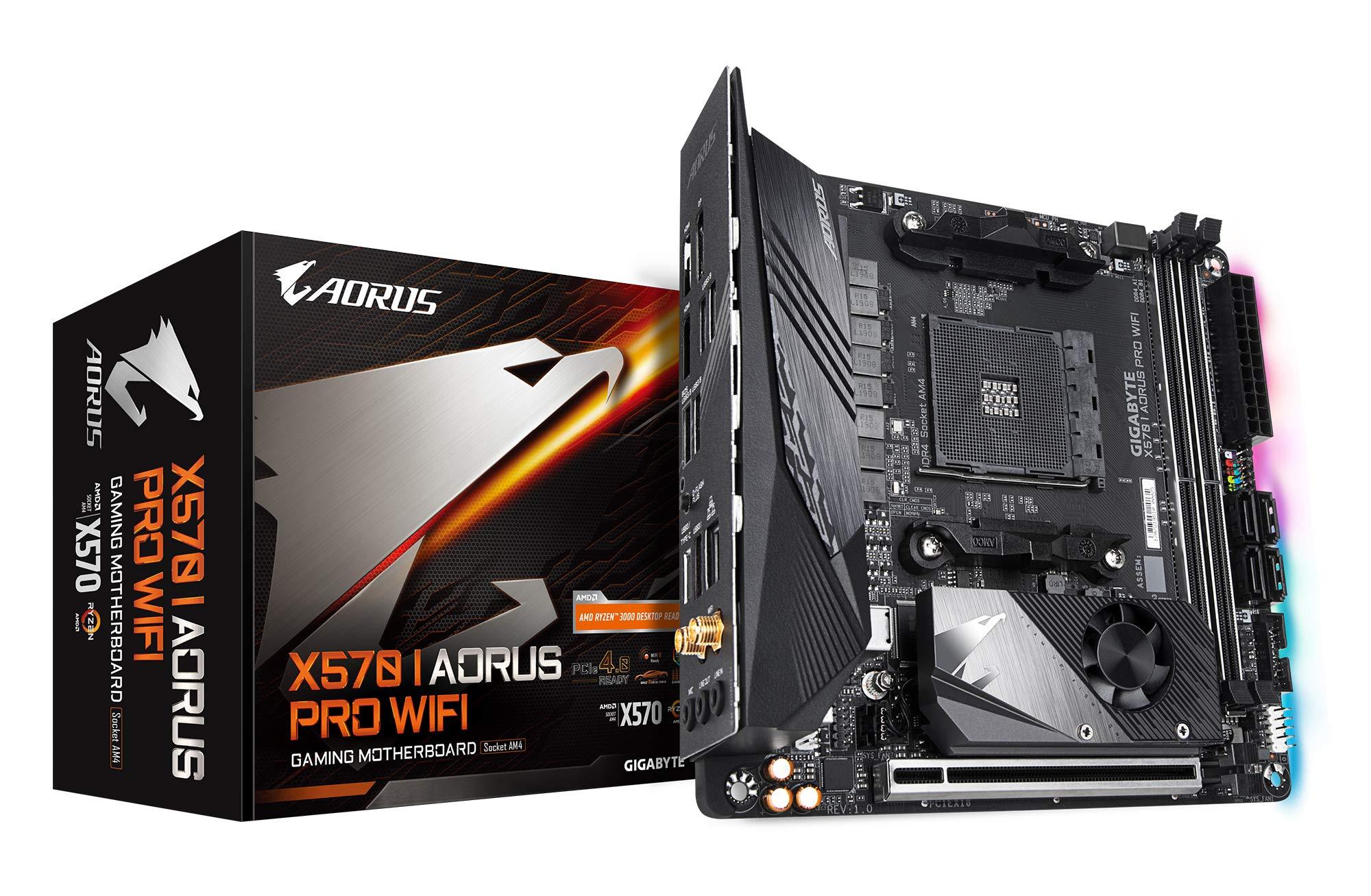 Gigabyte X570 I AORUS Pro WiFi (AMD Ryzen 3000/X570/Mini-Itx/PCIe4.0/DDR4/USB 3.1/Realtek ALC1220-Vb/DisplayPort 1.4/2xHDMI 2.0B/RGB Fusion 2.0/Gaming Motherboard) by Gigabyte