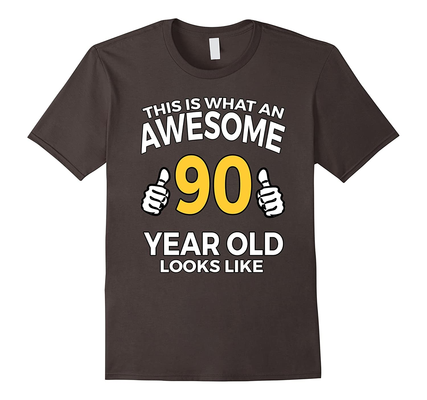 90 Year Old Birthday Gifts T Shirt For A Senior Man Or Woman TD