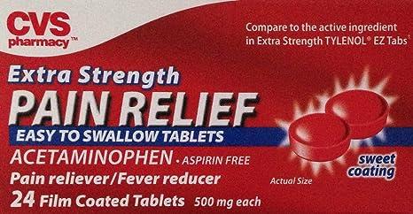 Amazon com: CVS Extra Strength Pain Relief, 24 Film Coated