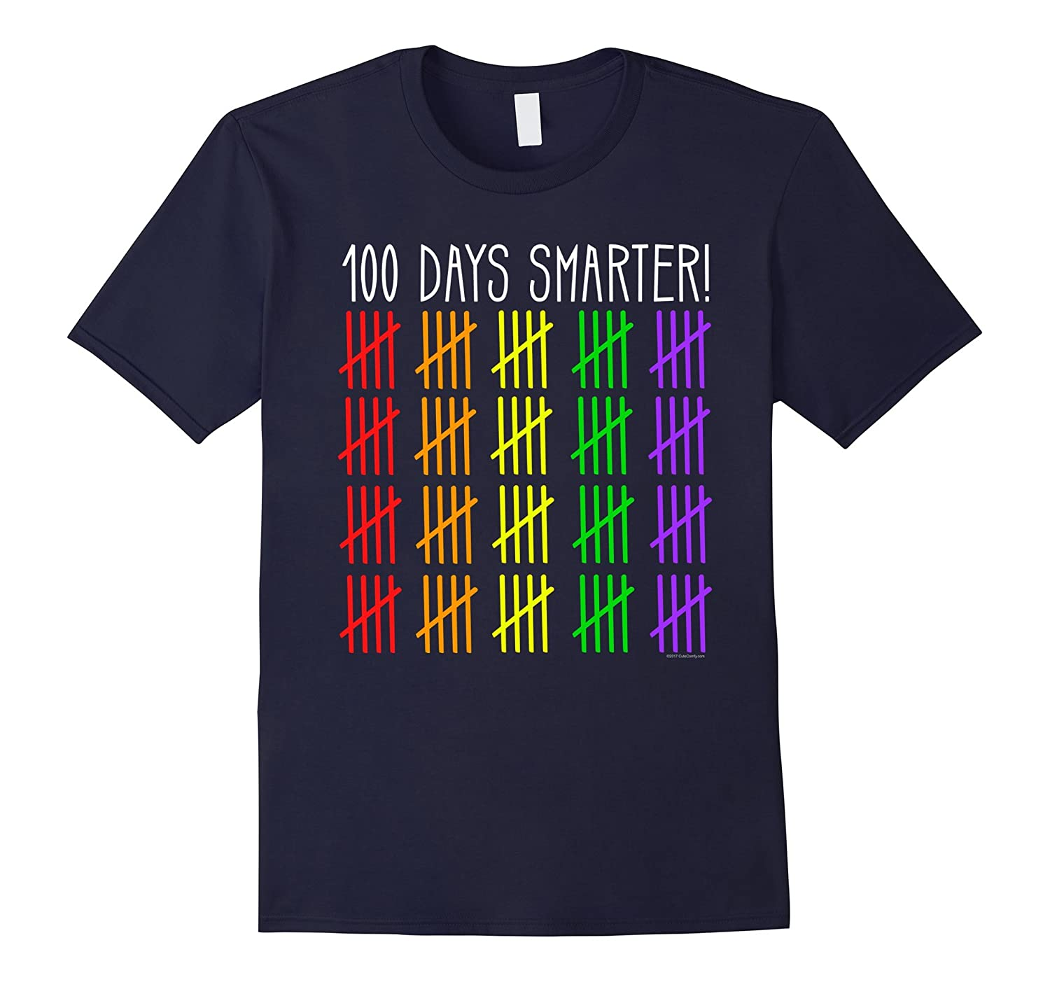 100 Days Smarter Counting Hash Marks Days of School T-Shirt-ah my shirt one gift