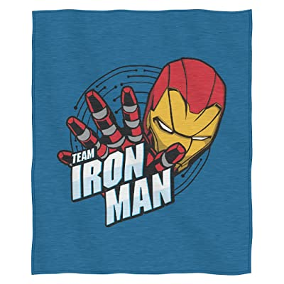 "Marvel's Iron Man, ""Team Iron Man"" Sweatshirt Throw Blanket, 50"" x 60"", Multi Color: Home & Kitchen"
