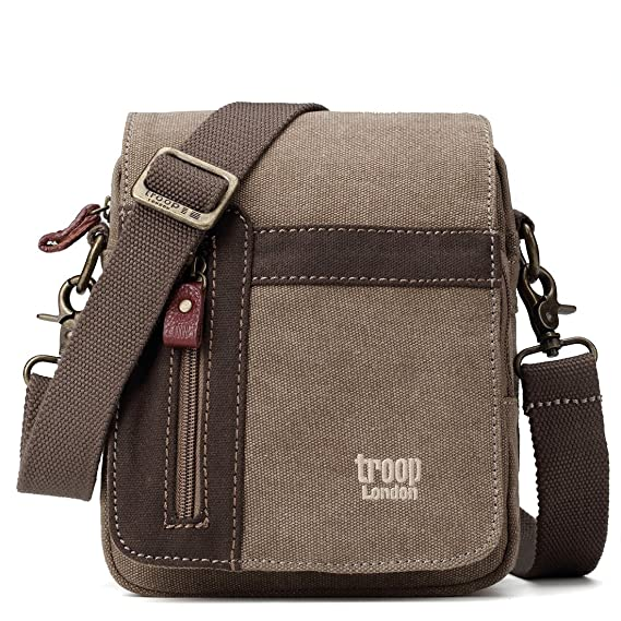 Image Unavailable. Image not available for. Colour  Troop London Classic  TRP0366 Across Body Bag (Brown) f17270b97dea2