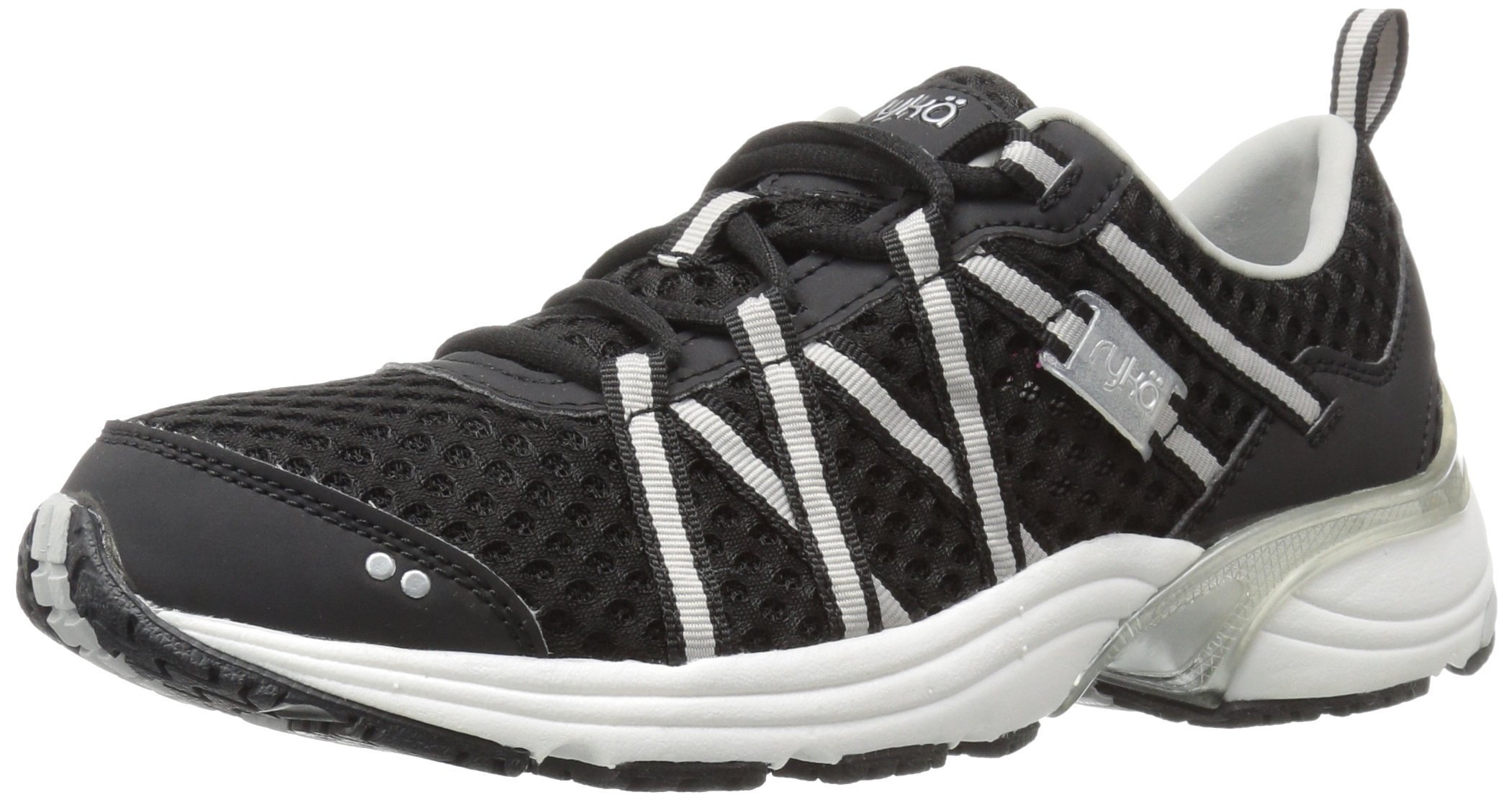 RYKA Women's Hydro Sport Water Shoe Black/Silver 9.5 M US