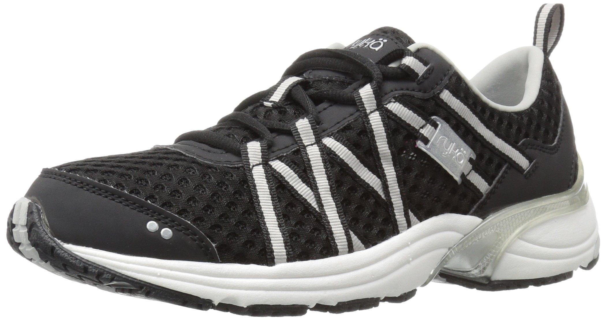 RYKA Women's Hydro Sport Water Shoe Cross Trainer, Black/Silver 5 M US