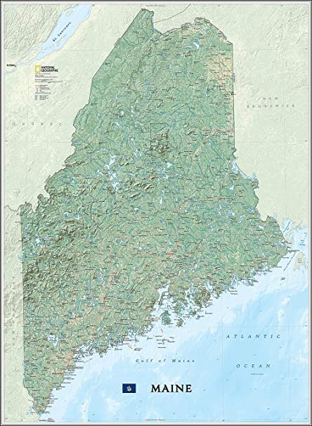 United States Map Wall Mural.National Geographic S Maine State Map Wall Mural Self Adhesive