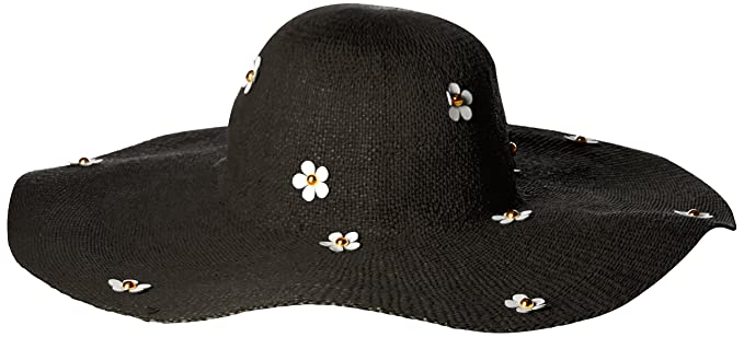 c85560b922c69 Betsey Johnson Women s Wide Brim Floppy Daisy Hat