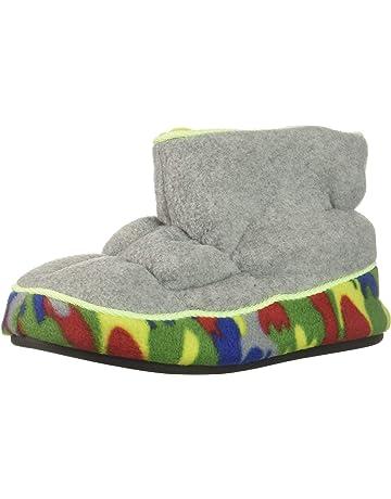 75cae589bcfab Dearfoams Kids' Df Boy's Fleece Boot Slipper