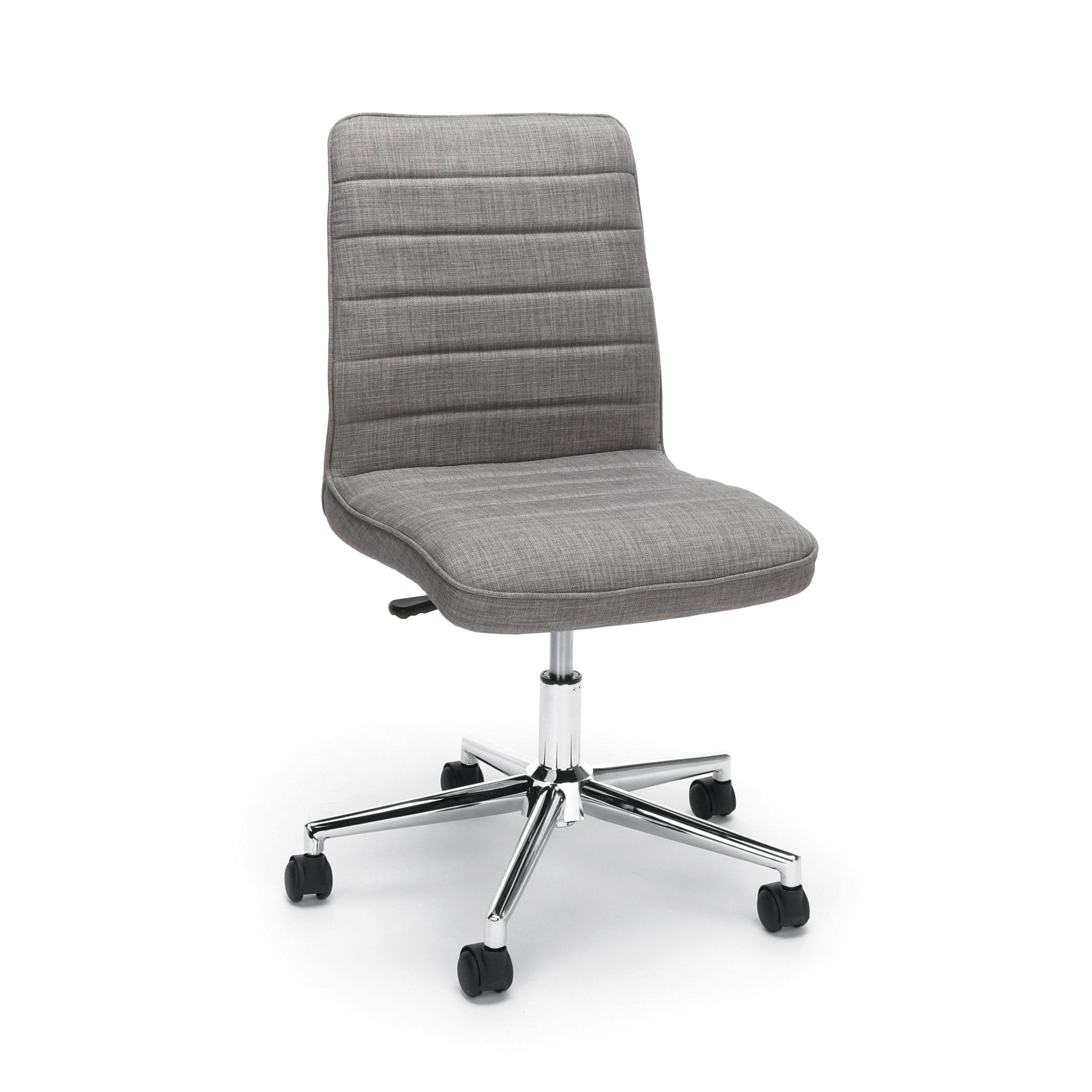 Essentials Upholstered Mid-Back Office Chair - Armless Fabric Computer Chair, Grey (ESS-2080-GRY) by OFM