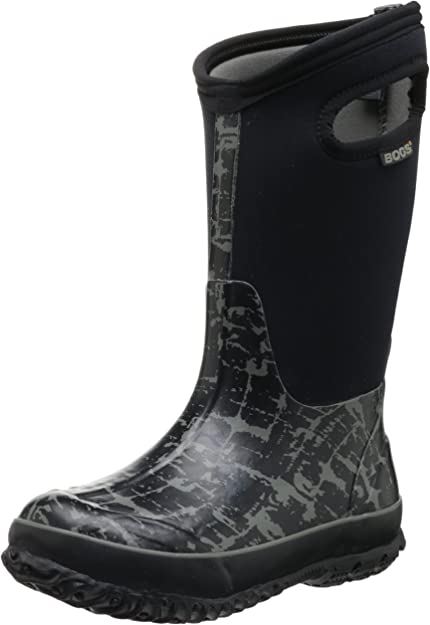 Toddler//Little Kid//Big Kid 6 M US Big Kid Bogs Classic No Handles Waterproof Insulated Rain Boot Black