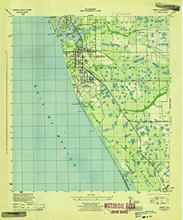 Map Of Venice Florida.Amazon Com Florida Maps 1944 Venice Fl Usgs Historical