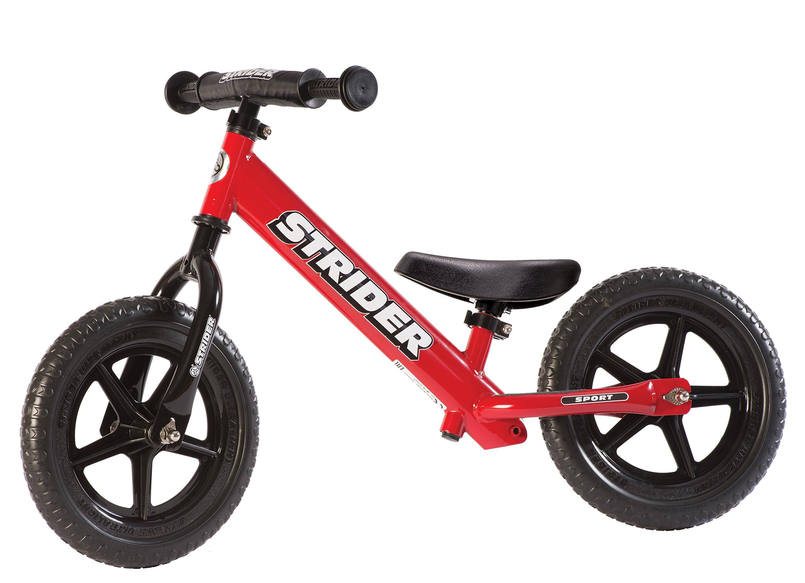 Strider - 12 Sport Balance Bike, Ages 18 Months to 5 Years, Red by Strider