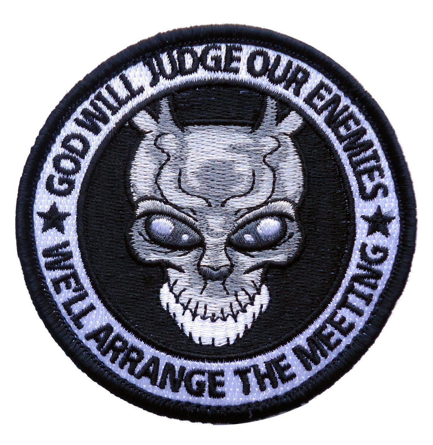 Hook Fastener Special Forces Punisher Donnie Darko Alien Frank Spoof ODA Navy Patch Taktish Klettband Aufn/äher Von Titan One Europe