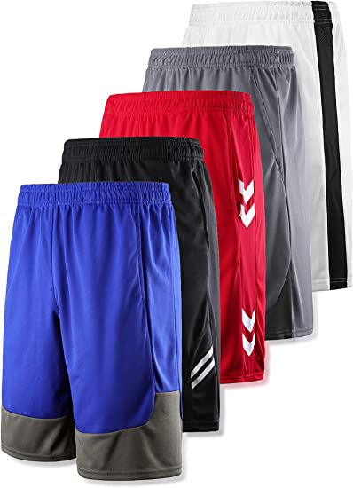 Boys Athletic Shorts Small 6-7 Basketball Workout Gym Running Pocket Red Silky