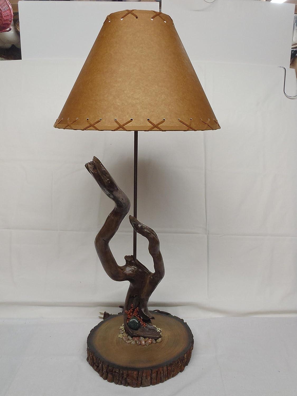 Amazon Com Twisted Wood Table Lamp Handmade