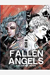 Fallen Angels Coloring Book for Adult: Angels, Broken Wings, Feathers, Angels on Earth, Fantasy, Whimsical, Stress Relieving Coloring Book for Adult Paperback