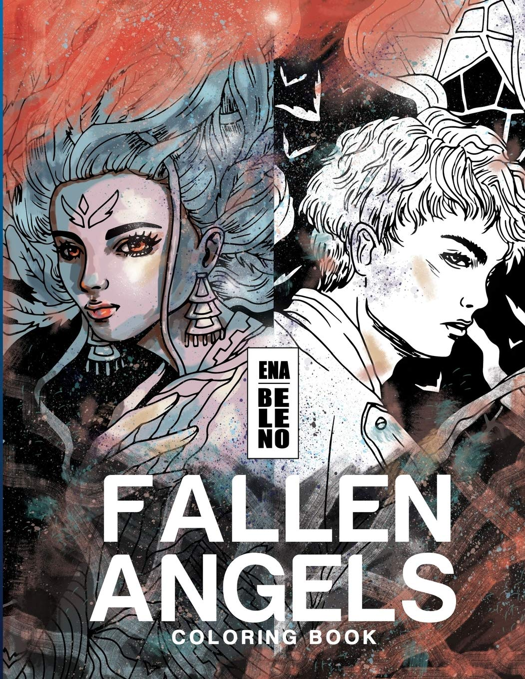 Fallen Angels Coloring Book for Adult: Angels, Broken Wings ...