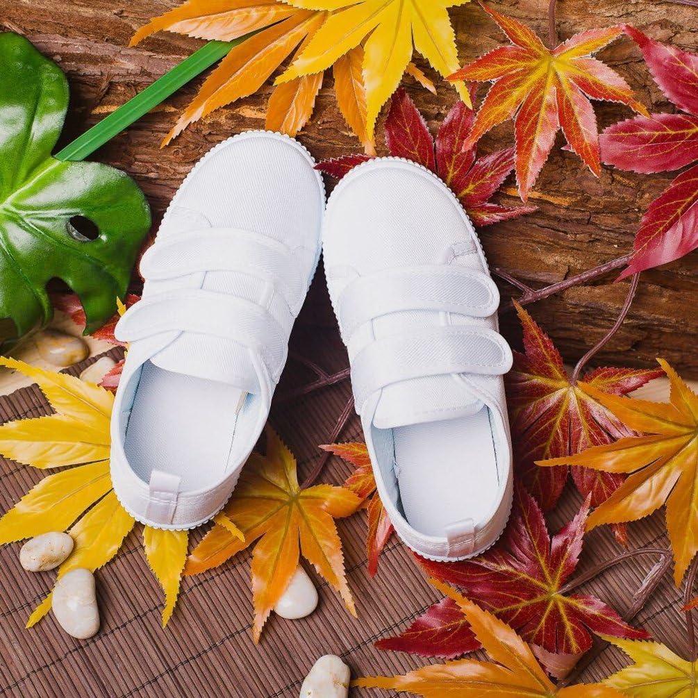 Yujeet Mode Respirant R/ésistant /à lusure Velcro Toile Danse Chaussures D/écontract/ée Confortable Plat /École Pompes Chaussures pour Unisexe Enfant