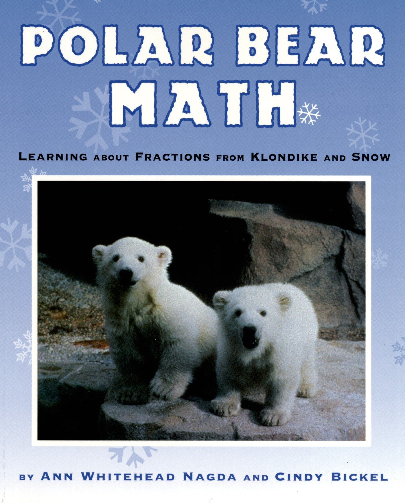 winter math polar bear fractions literature book