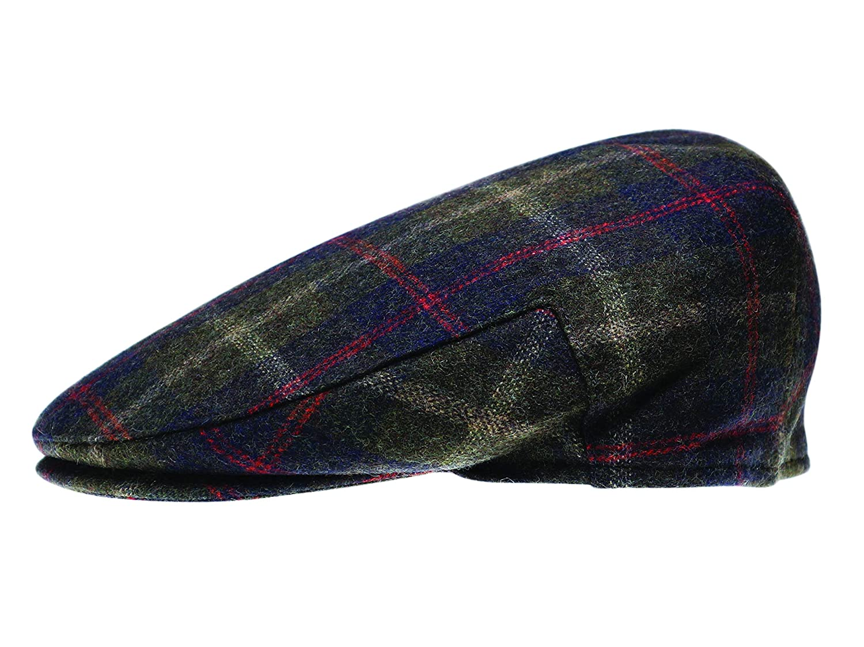 Quiet Man Collection Brown /& Green Herringbone Wool Cap Premium Quality