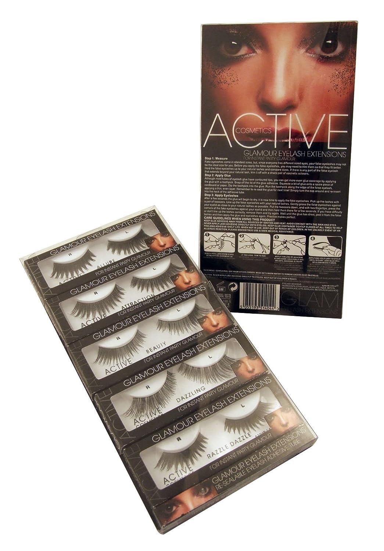 Active Glamour Eyelash Extensions Set With Glue Amazon Beauty