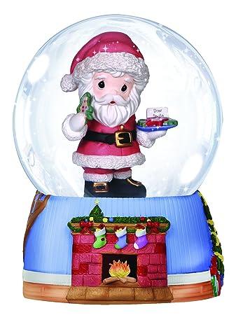 Precious Moments Company Santa With Cookies And Milk Waterball