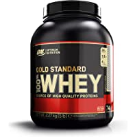 Optimum Nutrition Gold Standard Whey Protein Pulver (mit Glutamin und Aminosäuren. Eiweisspulver von ON) Cookies & Cream, 74 Portionen, 2,27kg