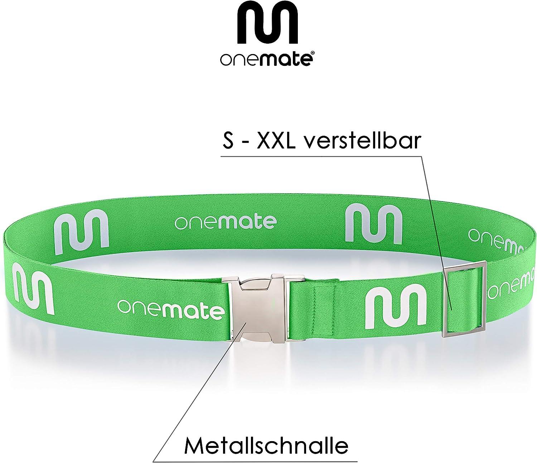 ONEMATE Koffergurt-Set mit Metallschnalle 1 Band Unfassbar Robustes Kofferband f/ür 100/% Sichere Reisen blau