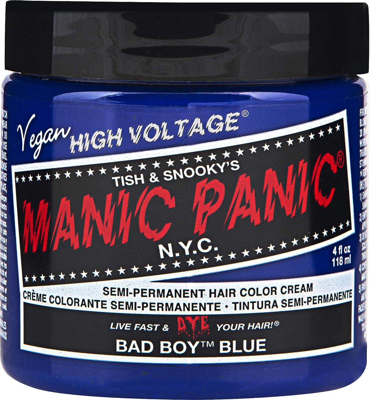 Manic Panic Semi-permanent Hair Color Cream, Bad Boy Blue