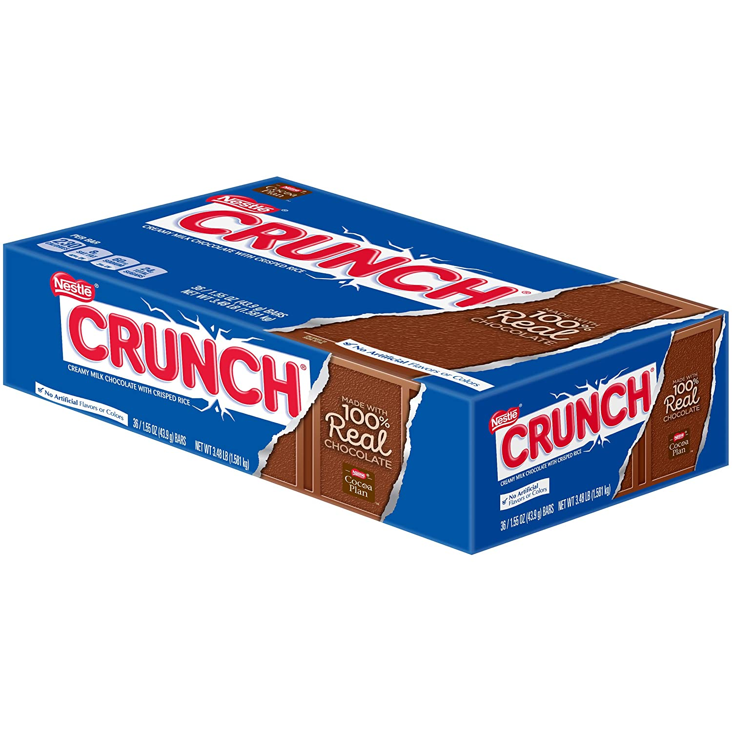 Crunch Chocolate Candy Bars, Single 1 55 Oz Bars (Pack of 36)