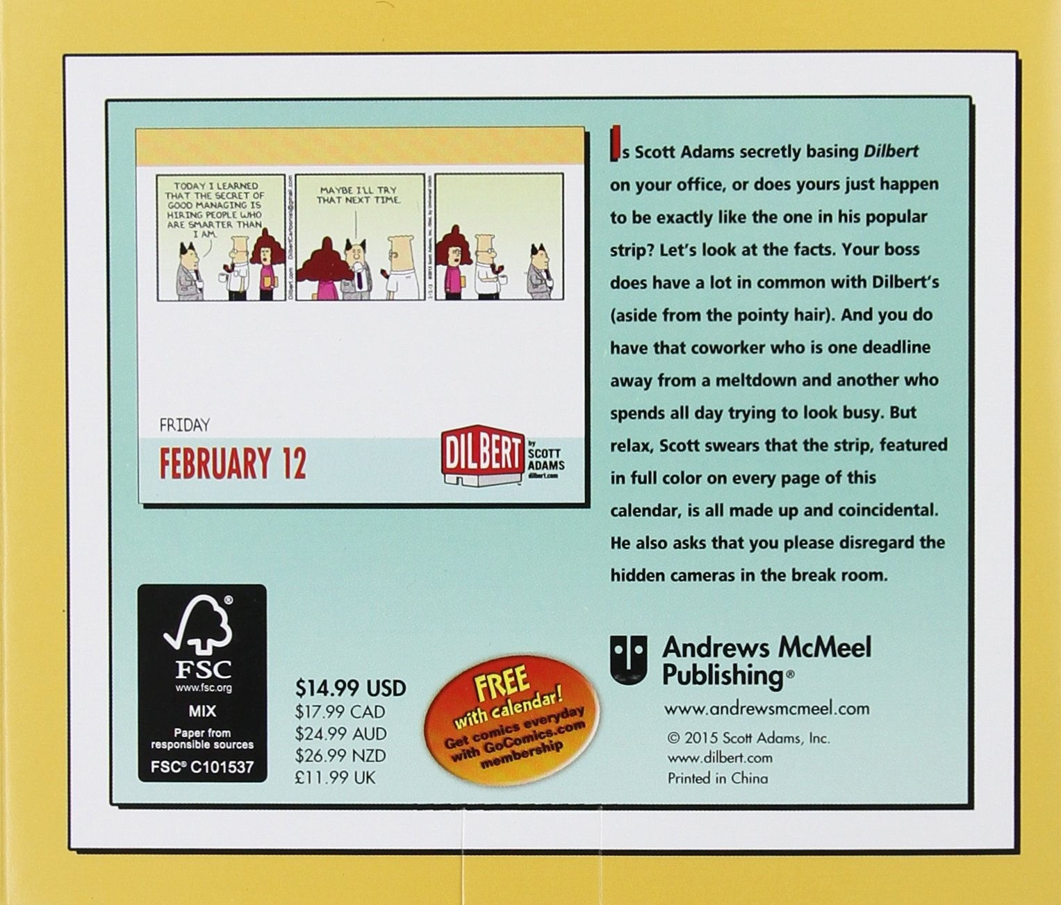 Dilbert 2016 Day-to-Day Calendar: Scott Adams: 0050837342057: Amazon ...