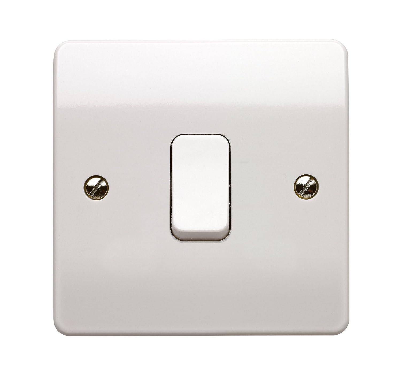 MK Logic Plus k4871 Einpoliger Schalter 2 Positionen 10 A weiß 1 ...