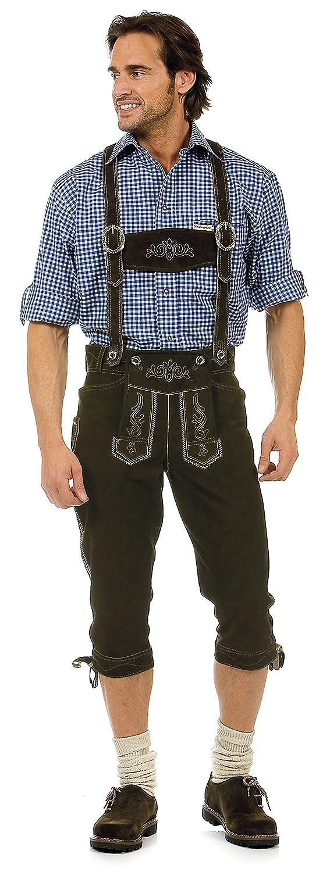 Herren Trachten Lederhose Marke STOCKERPOINT, Art. Justin2, Größe:44;Farbe:Urig antik braun
