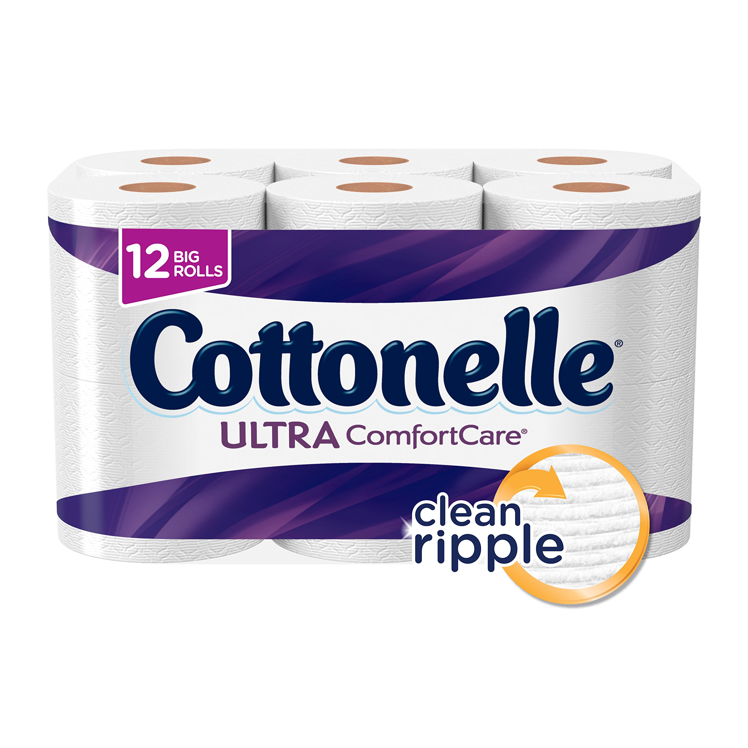 Cottonelle Ultra ComfortCare Big Roll Toilet Paper, Bath Tissue, 12 Toilet Paper Rolls