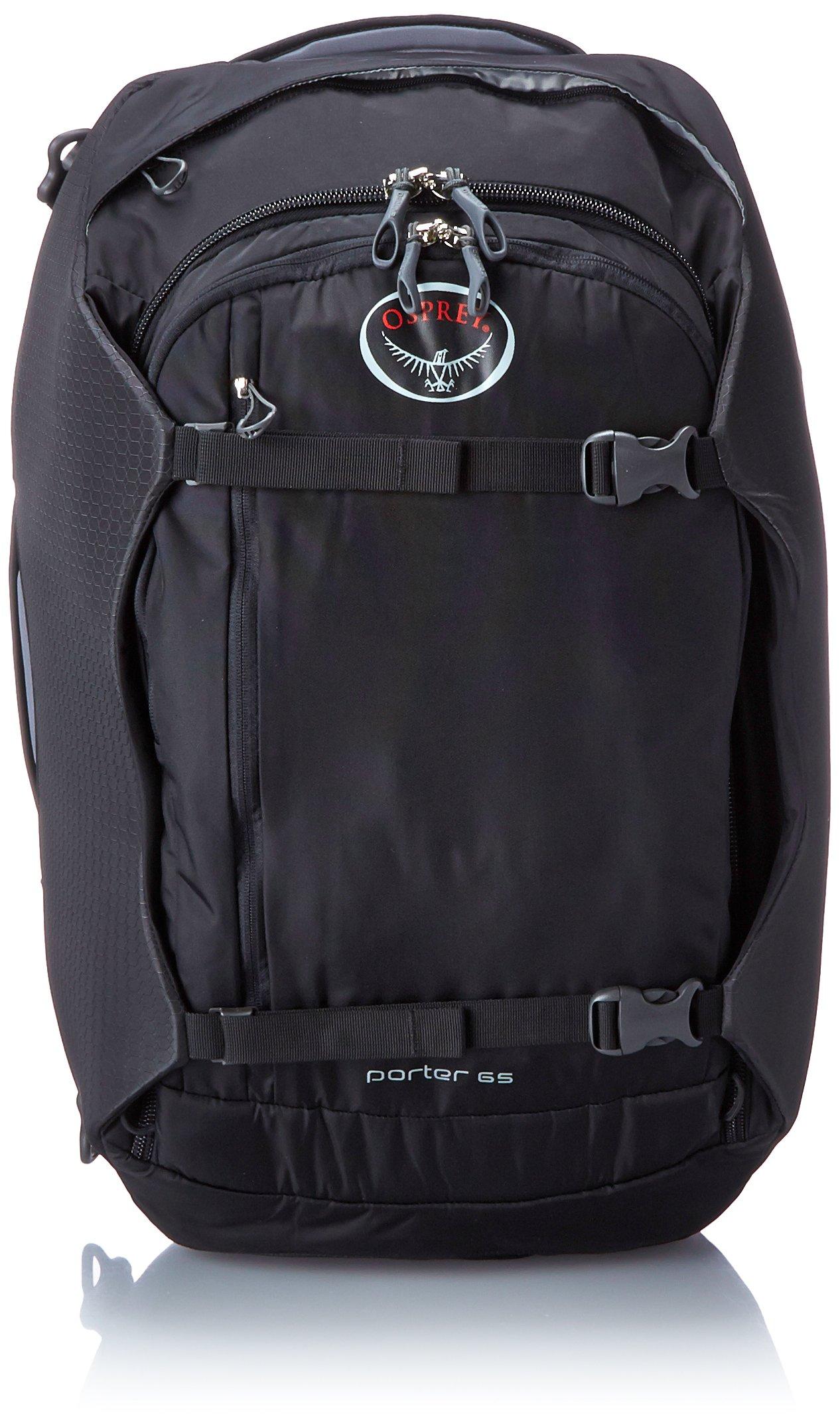 Osprey Porter Travel Duffle Bag, Black, 65-Litre